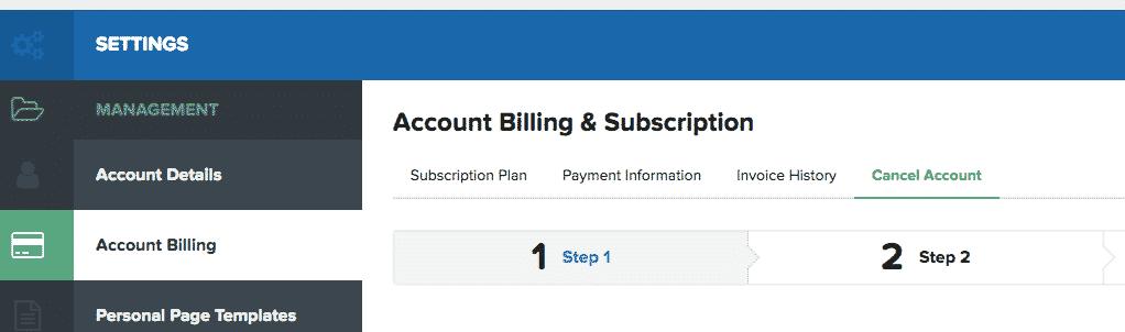 clickfunnels cancel account