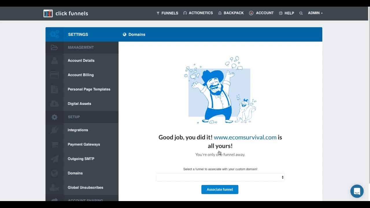 Custom Domain in ClickFunnels