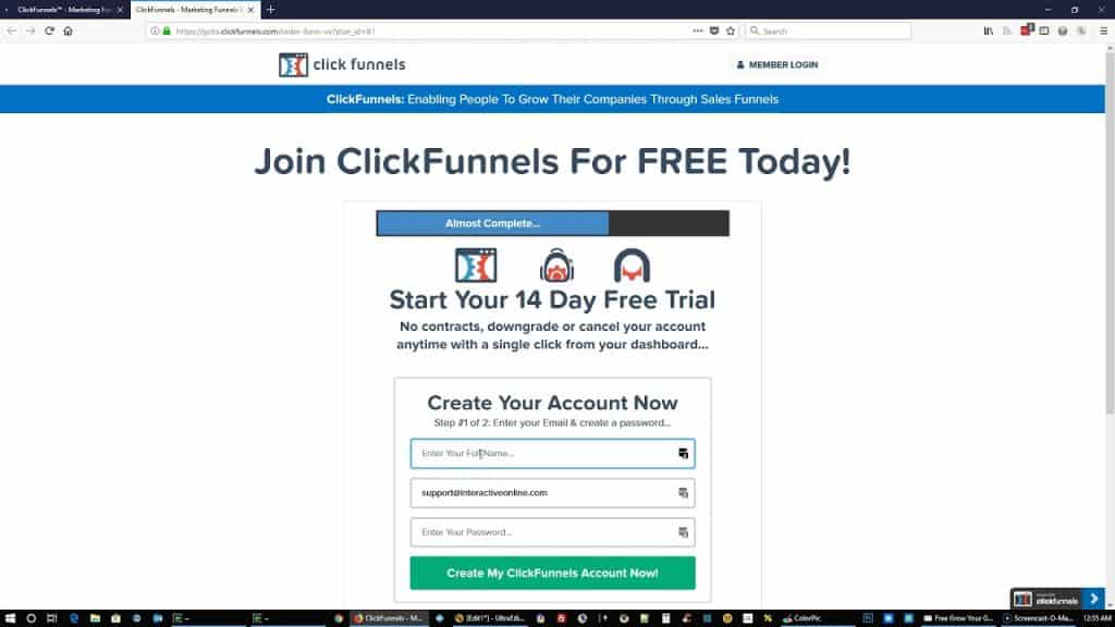 Sign-up ClickFunnels Free Trial