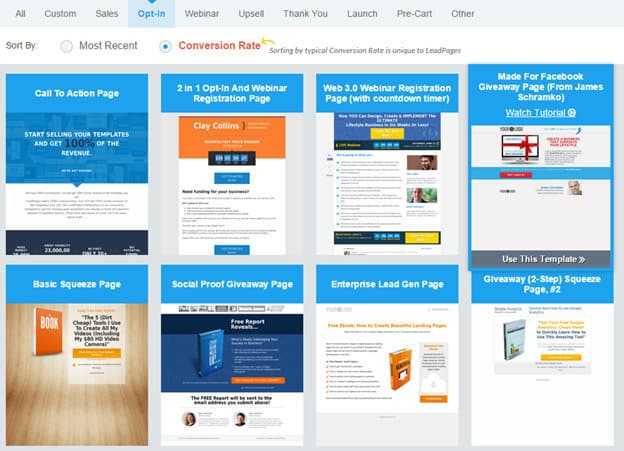 LeadPages Funnel Builder