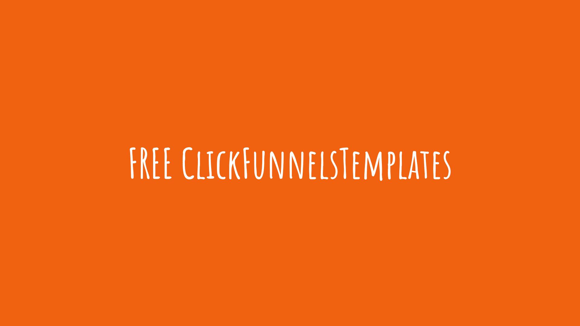 FREE ClickFunnelsTemplates