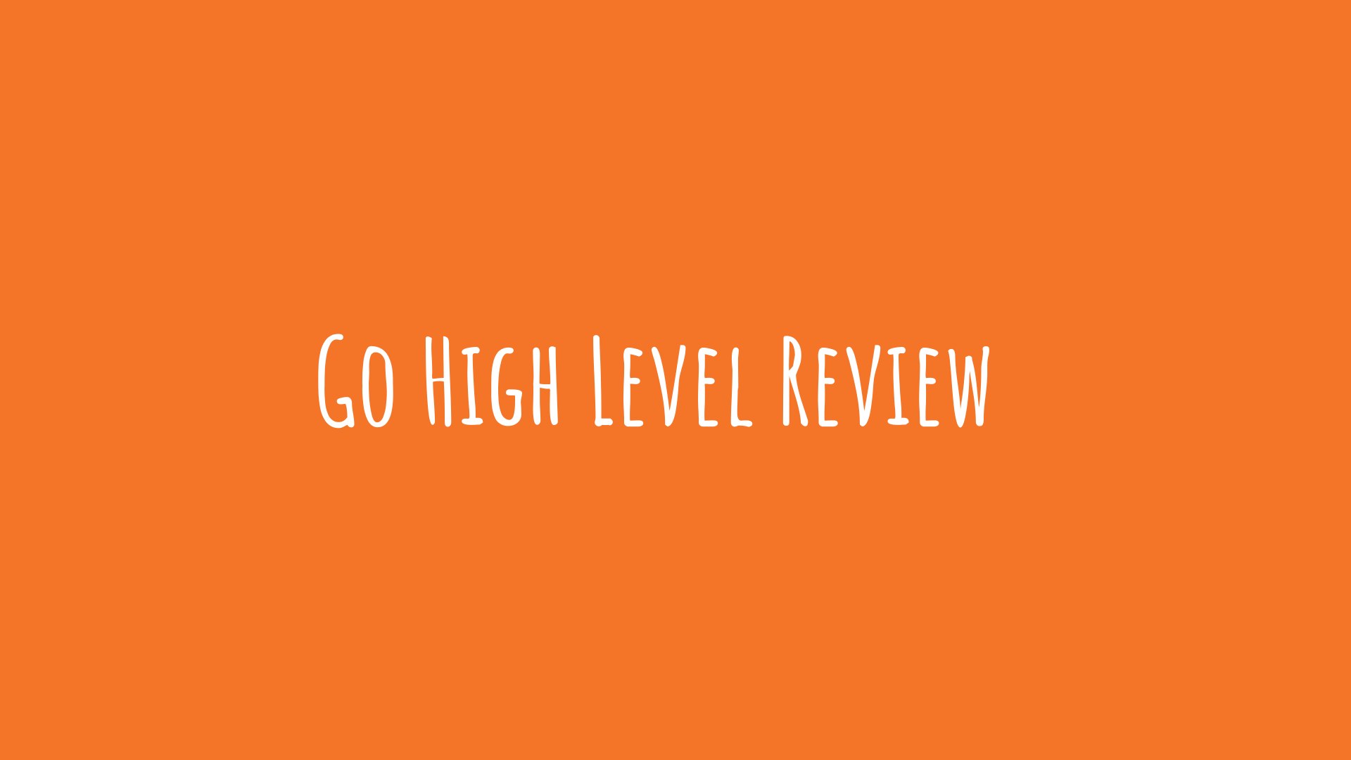 Go High Level Review